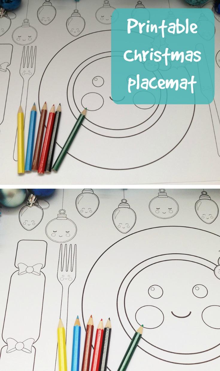 735x1239 Free Printable Christmas Dinner Placemat Christmas