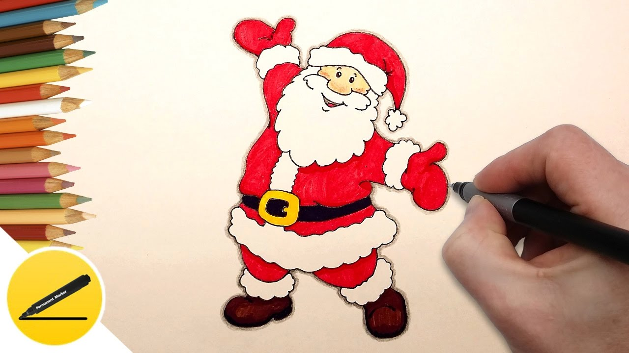 1280x720 How to Draw Santa Claus Step by Step Easy