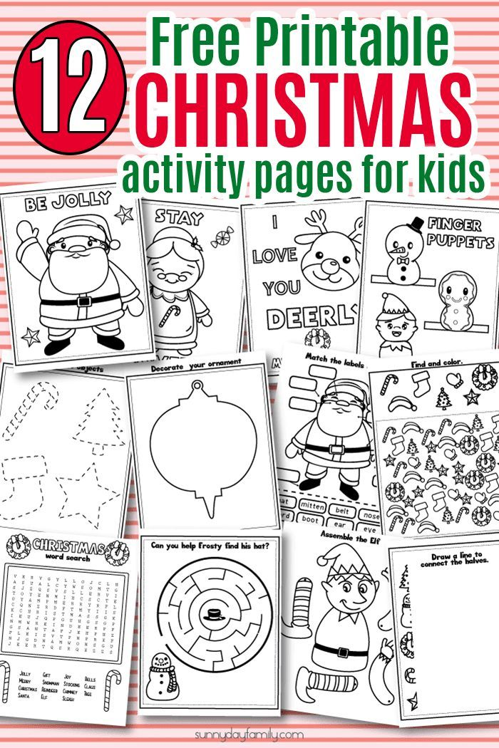 700x1050 12 free printable christmas activity pages for kids christmas - Free Printable Christmas Activities
