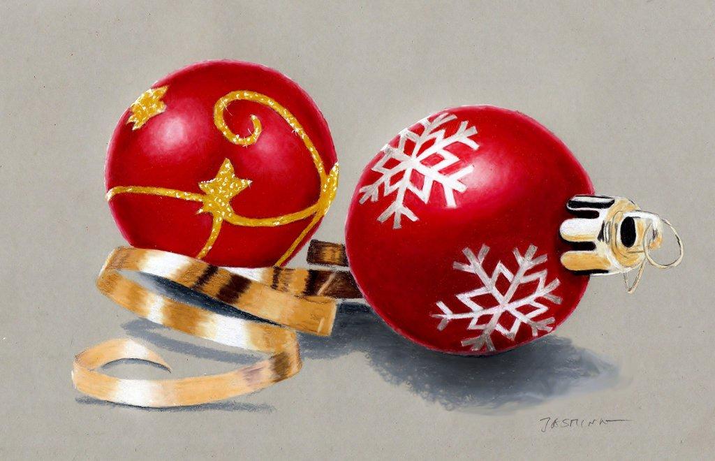 1024x660 Colored Pencil Drawing Christmas Tree Decorations By Jasminasusak