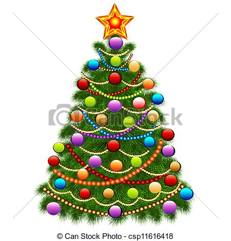 450x470 How To Draw And Decorate A Christmas Tree] Learn How To Draw