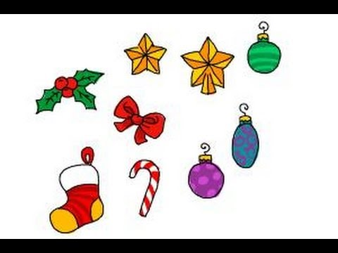 480x360 How To Draw Christmas Decorations