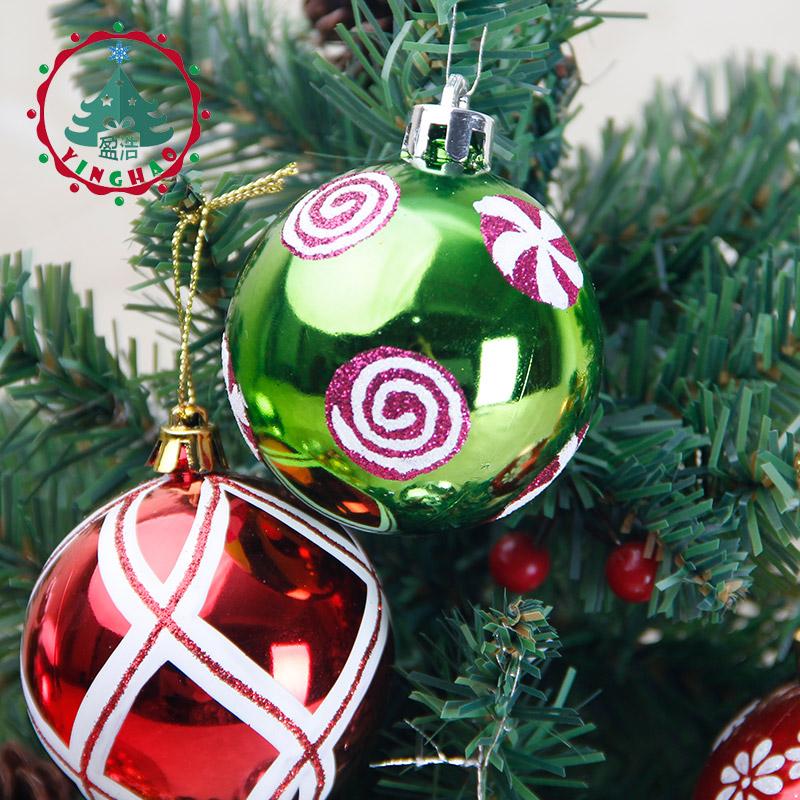 800x800 Inhoo 6pcs Global Color Drawing Decorations Ball 6cm Christmas