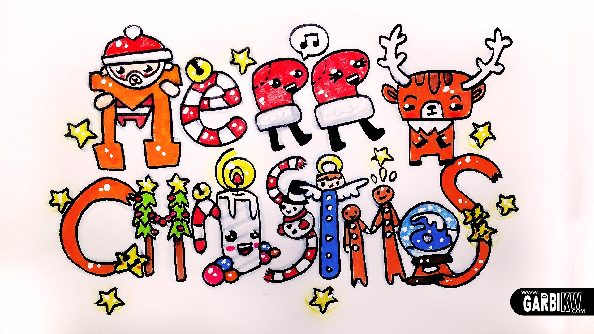1920x1080 How To Draw Cute Christmas Easy And Kawaii Drawings By Garbi Kw
