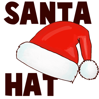 400x400 How To Draw Santa Hats With Easy Steps