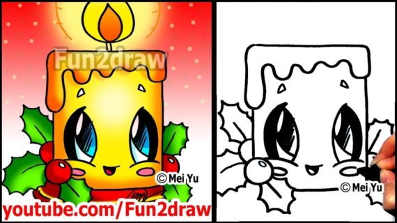 570x320 Pictures Cute Christmas Easy Drawings,