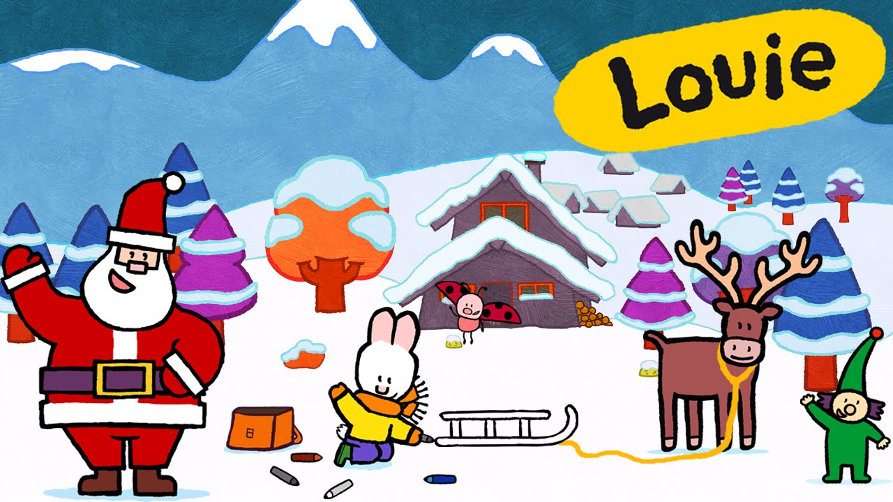 1280x720 Christmas Drawing For Kids Louie And Santa's Assistant Christmas