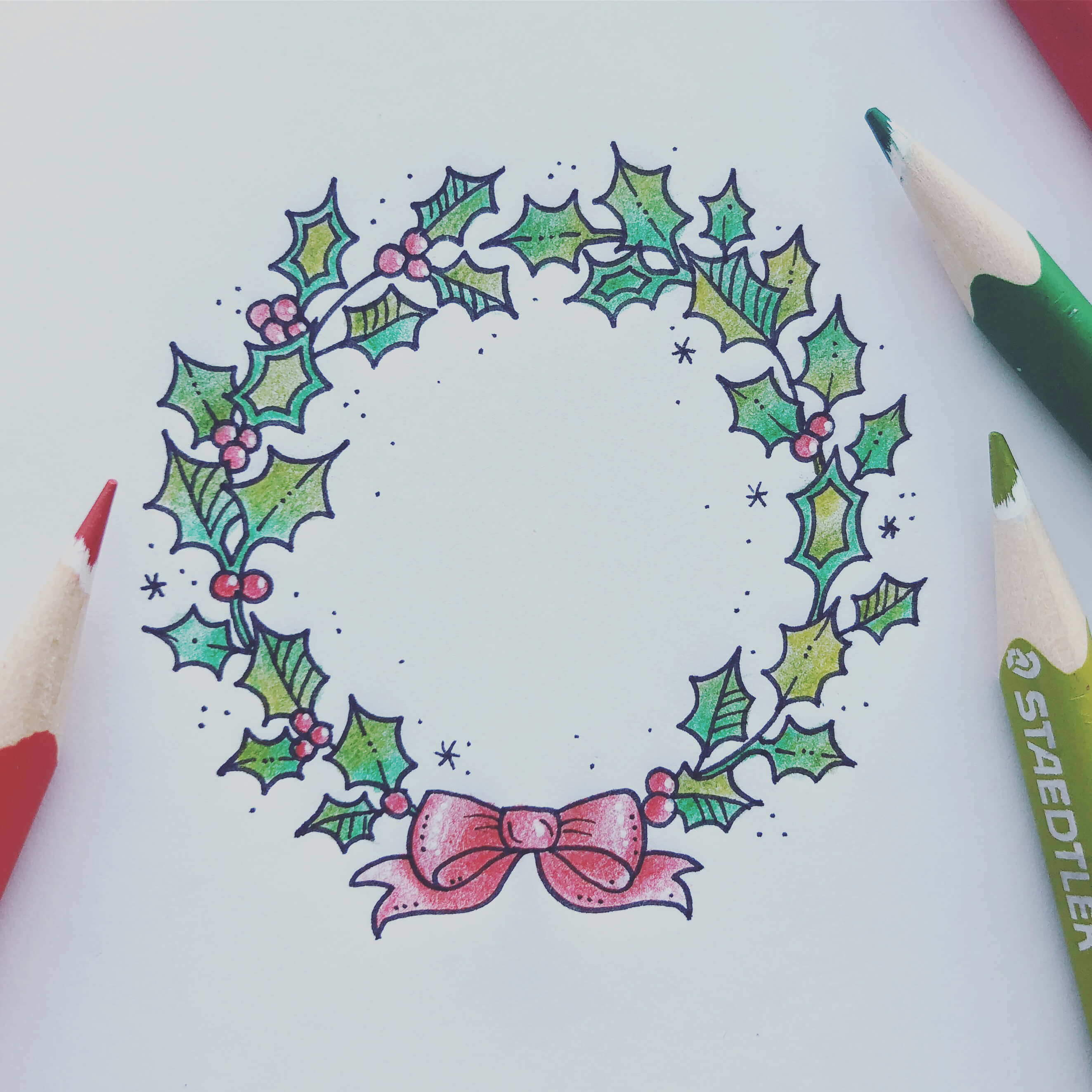 2646x2646 How To Draw A Christmas Garland