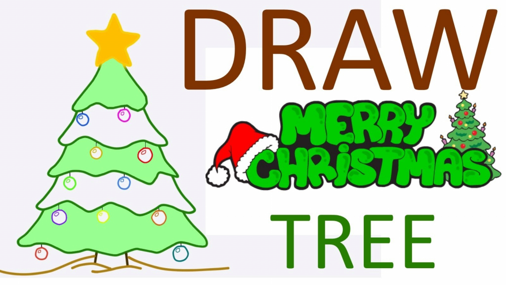 1024x576 Christmas Drawing For Children Christmas Tree