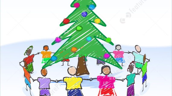 570x320 Christmas Drawing For Children Kids Drawing With Christmas Tree