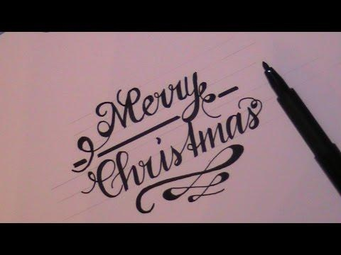 480x360 Merry Christmas Drawing Cursive Simple Living Tree In The World
