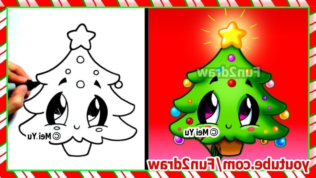 1024x576 Cute Christmas Tree Drawing Simple Living In The World Places