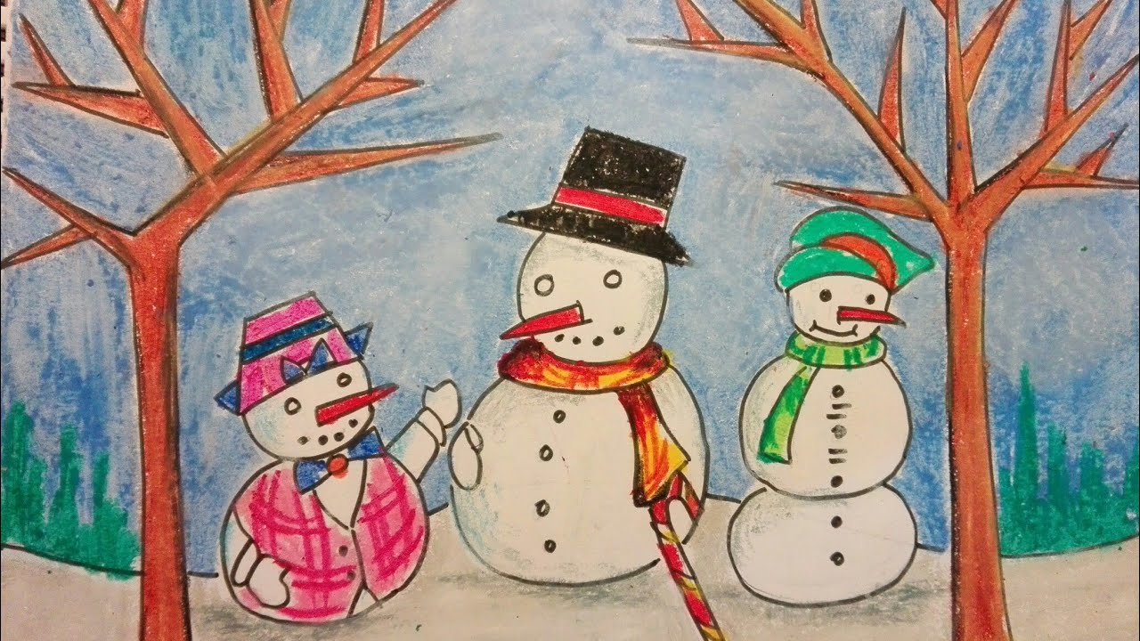 1280x720 Christmas Festival Drawing For Kids