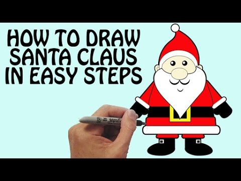 480x360 How To Draw Santa Claus In Easy Steps Festival Drawing For Kids