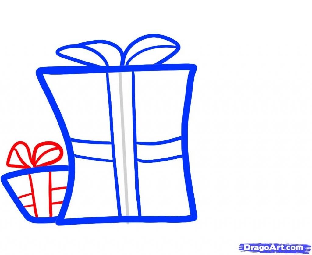 1024x837 Christmas Gift Drawings How To Draw Christmas Gifts Christmas