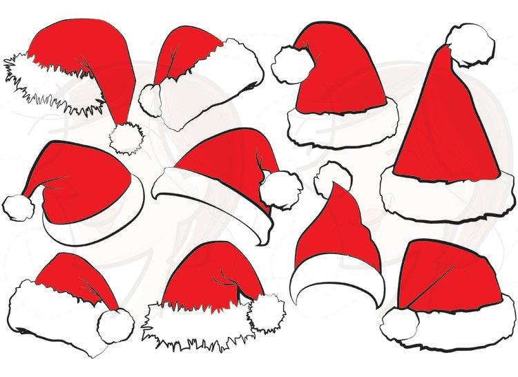 750x546 Santa Hat Svg Clipart Christmas Santa Claus Hat Clip Art Santa