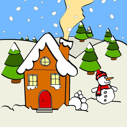 500x500 Christmas House Online Games
