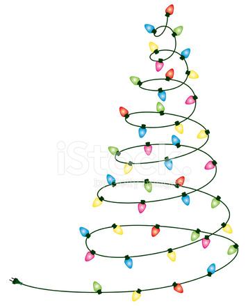 357x439 Christmas Lights Tree Stock Vector