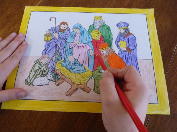 600x450 Printable Christmas Coloring Pages Jesus Amp Mary, Nativity Scenes