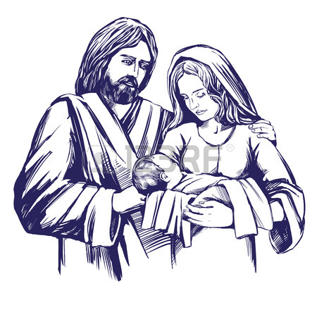 450x450 Christmas Story. Christmas Night , Baby Jesus In The Manger