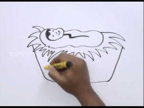 480x360 How To Draw A Baby Jesus