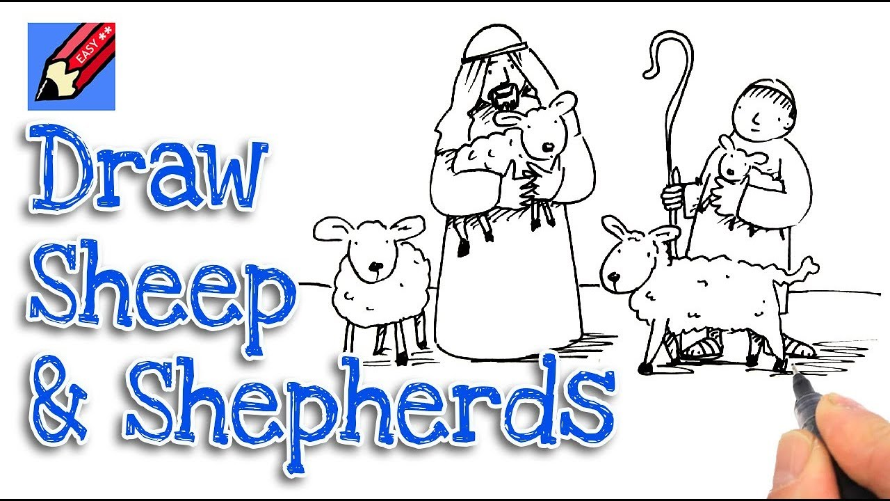 1280x720 How To Draw The Shepherds And Sheep Real Easy