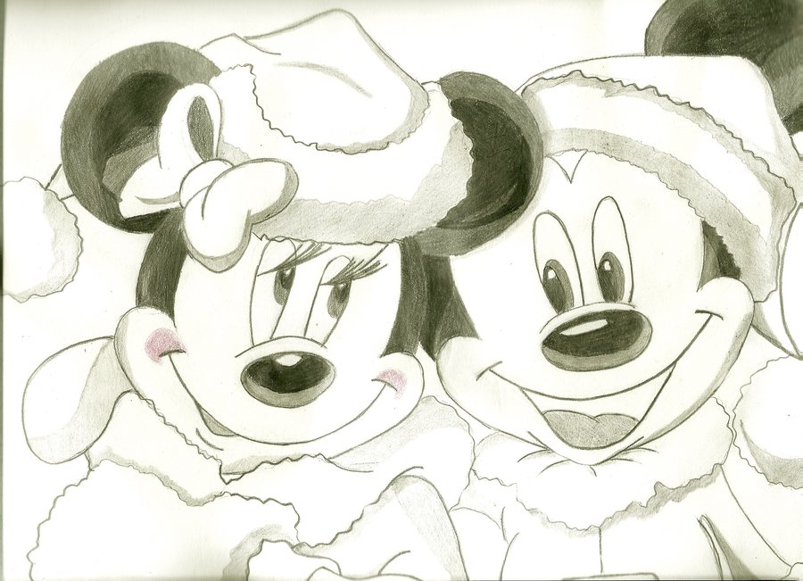 900x651 Mickey And Minnie Mouse By Andrea Steph
