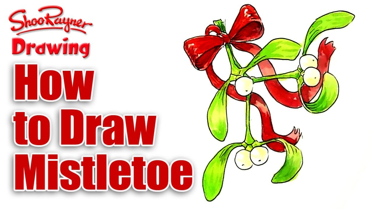 1280x720 How To Draw Mistletoe For Christmas