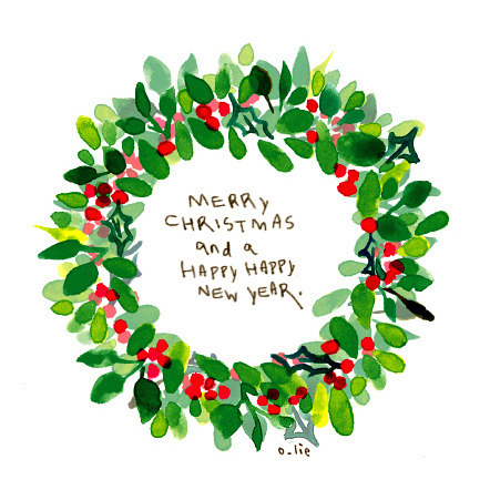 442x442 Merry Christmas Christmas Drawing Art Watercolor New Year