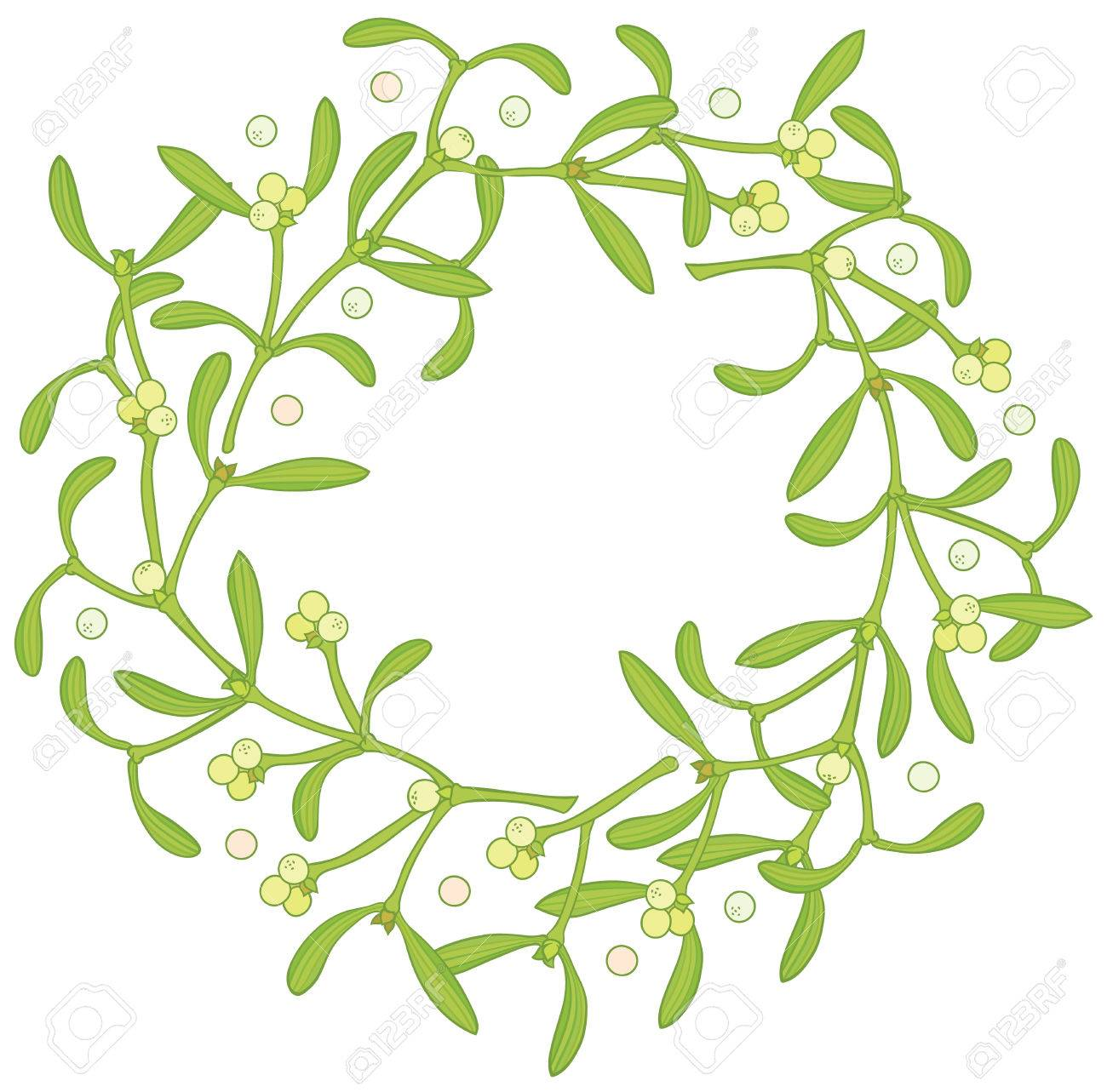 1300x1283 Wreath Of Mistletoe