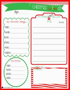 236x305 Free Christmas Wish List Printable! In Addition To Things That