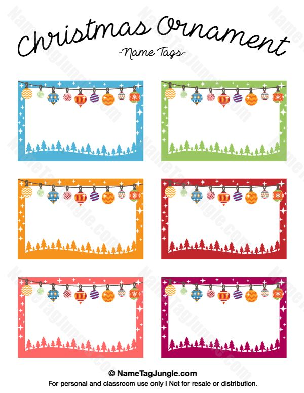 600x776 Name Tag Templates For Christmas Fun For Christmas