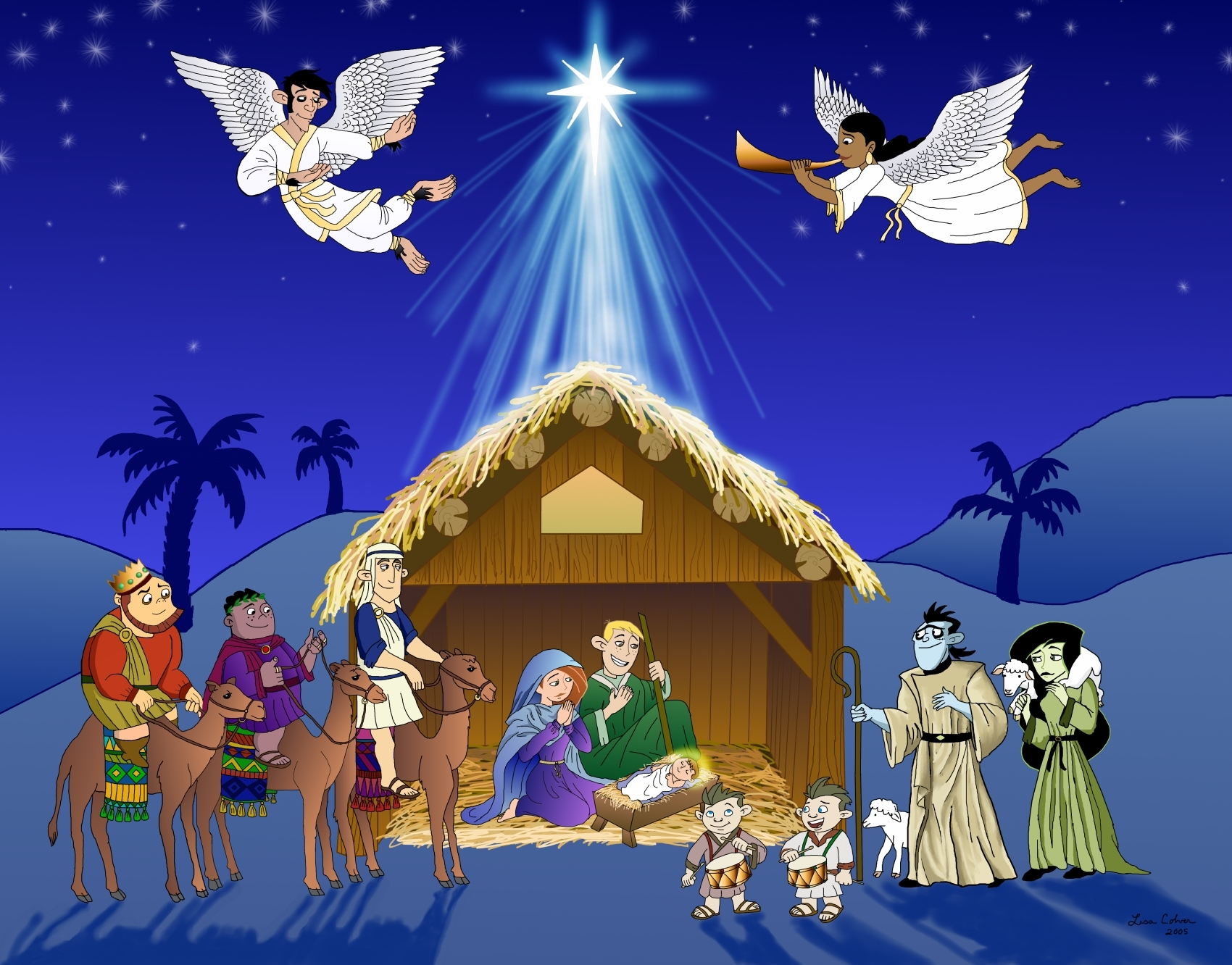 1700x1332 A Kim Possible Nativity Scene By Lmcolver