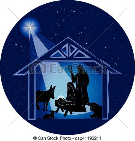 450x470 Christmas Nativity Scene