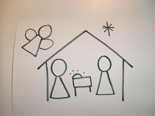 520x390 How To Draw Nativity