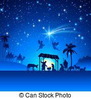 180x195 Nativity Christmas Scene. Religious Nativity Christian Clipart