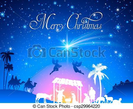450x367 Vector Christmas Nativity Scene. High Detail Vector Nativity