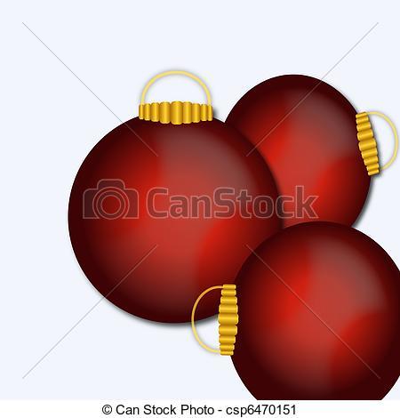 450x470 Christmas Ornaments. Illustration Clipart