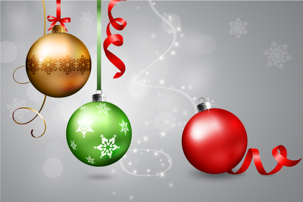 600x400 A Set Of Realistic Christmas Baubles In Adobe Illustrator