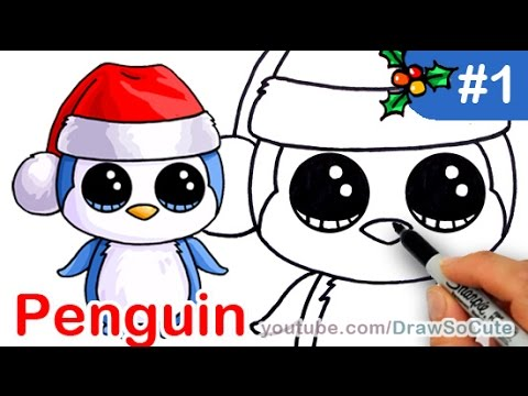 480x360 How To Draw Beanie Boo Penguin Easy Step By Step Christmas Special