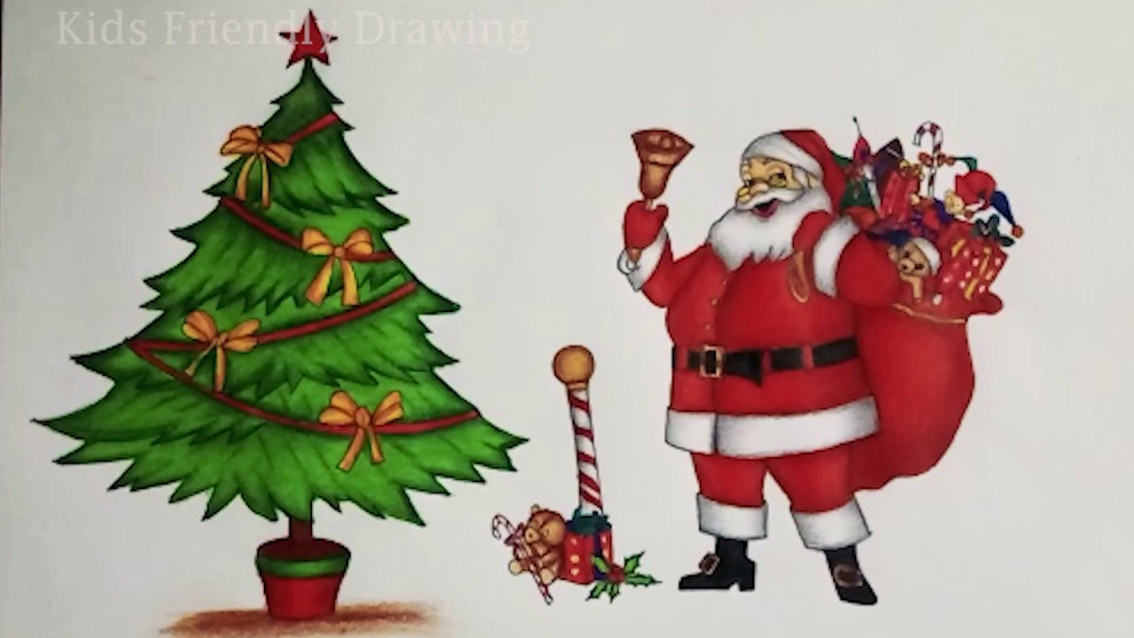 1280x720 Christmas Drawings