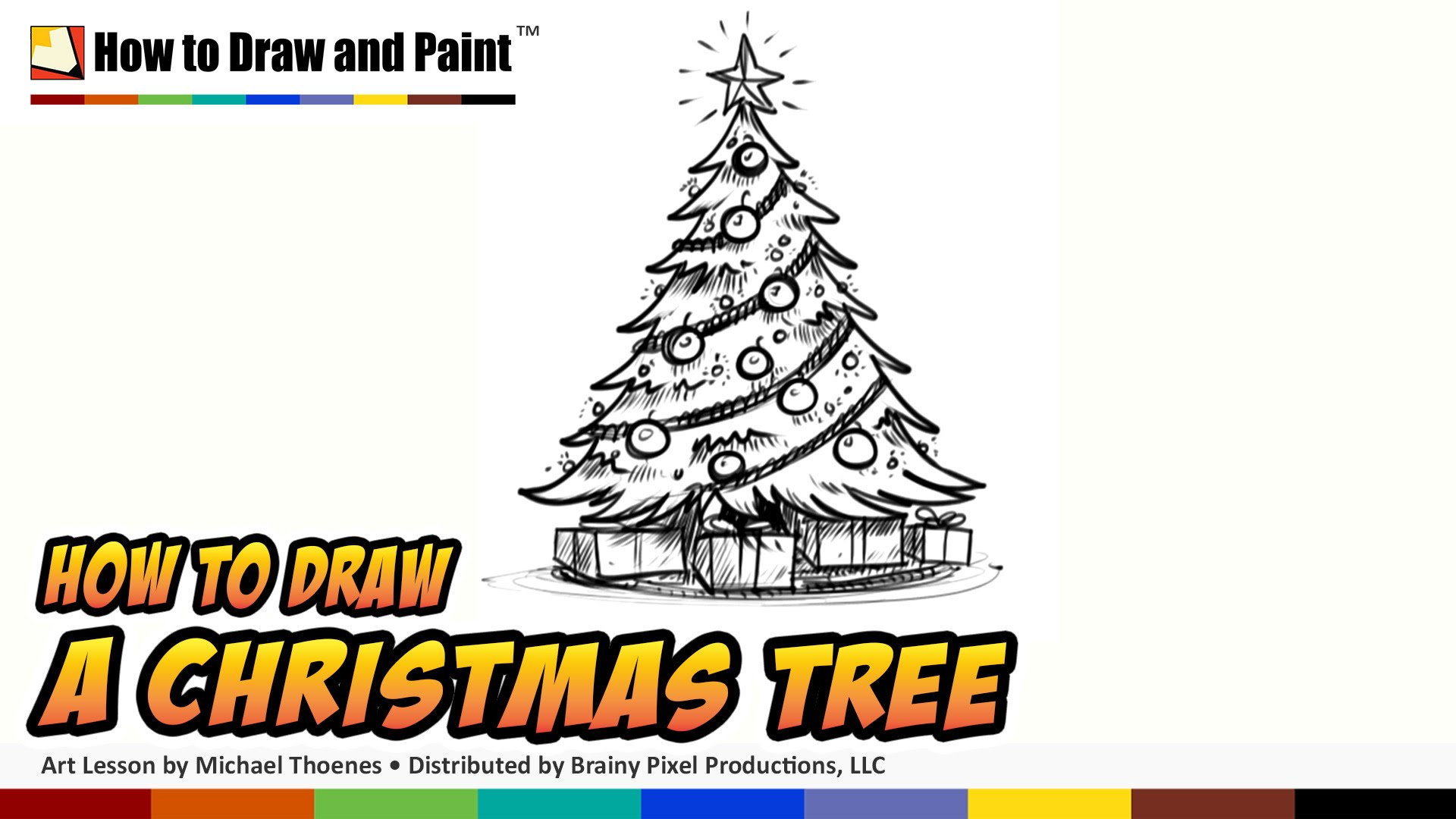 1920x1080 How To Draw A Christmas Tree