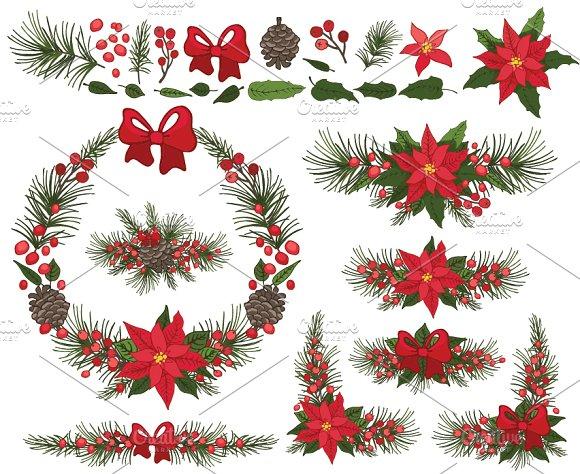 580x474 Christmas Poinsettia Wreath,group By Tatianakost49