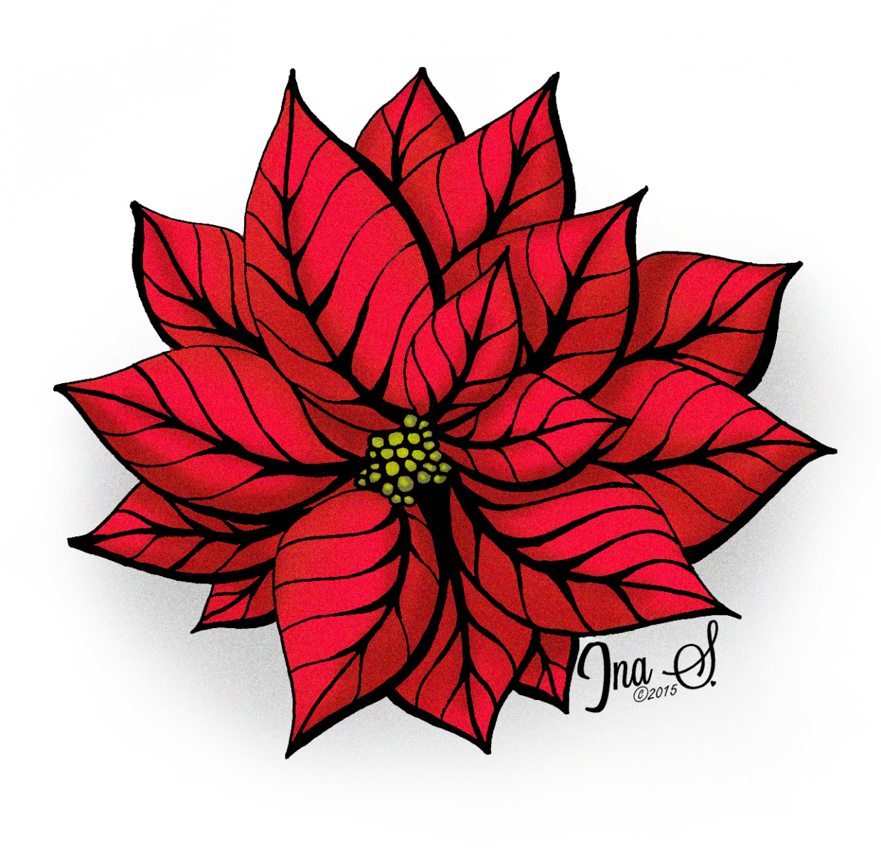 1238x1202 How To Draw Poinsettia Poinsettia, Artwork And Tangled