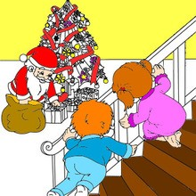 220x220 Christmas Scenes Coloring Pages