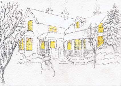424x300 Whidbey Island Sketchers Christmas Cards From Our Secret Buddies