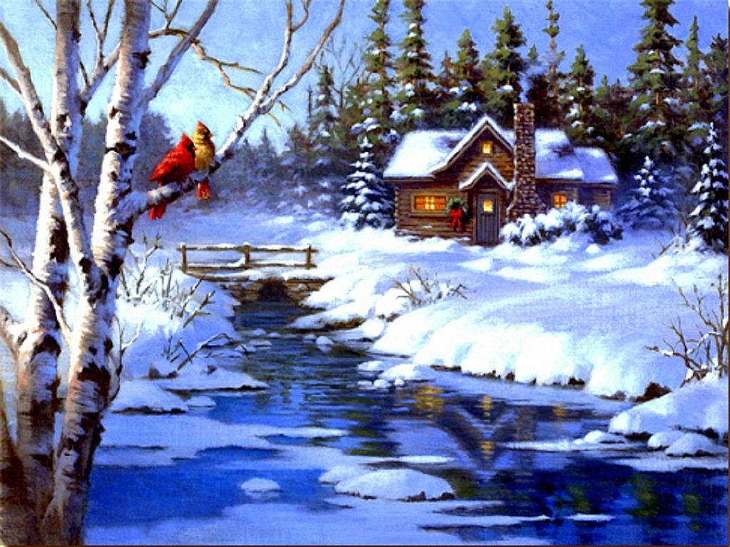 christmas scenery drawing at getdrawings com free for personal use