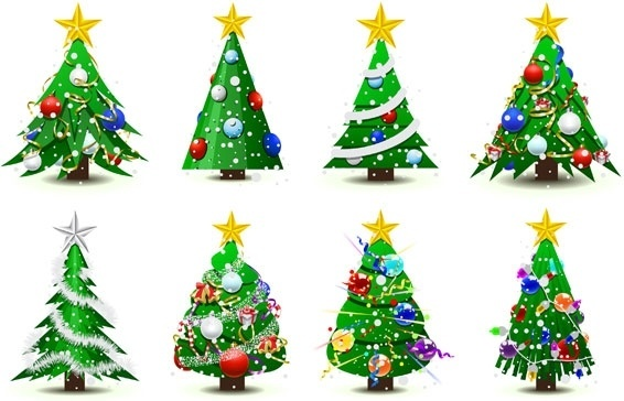 566x364 Background Christmas Tree Decorations Ai Free Vector Download