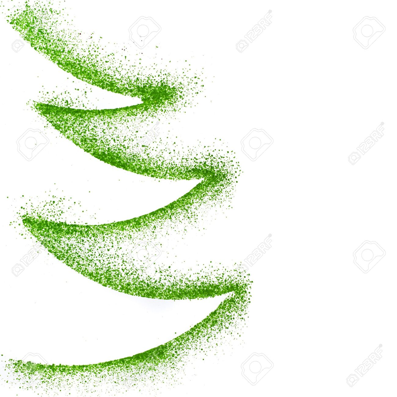 1300x1300 Christmas Tree Drawing Decor With Copy Space Isolated On White