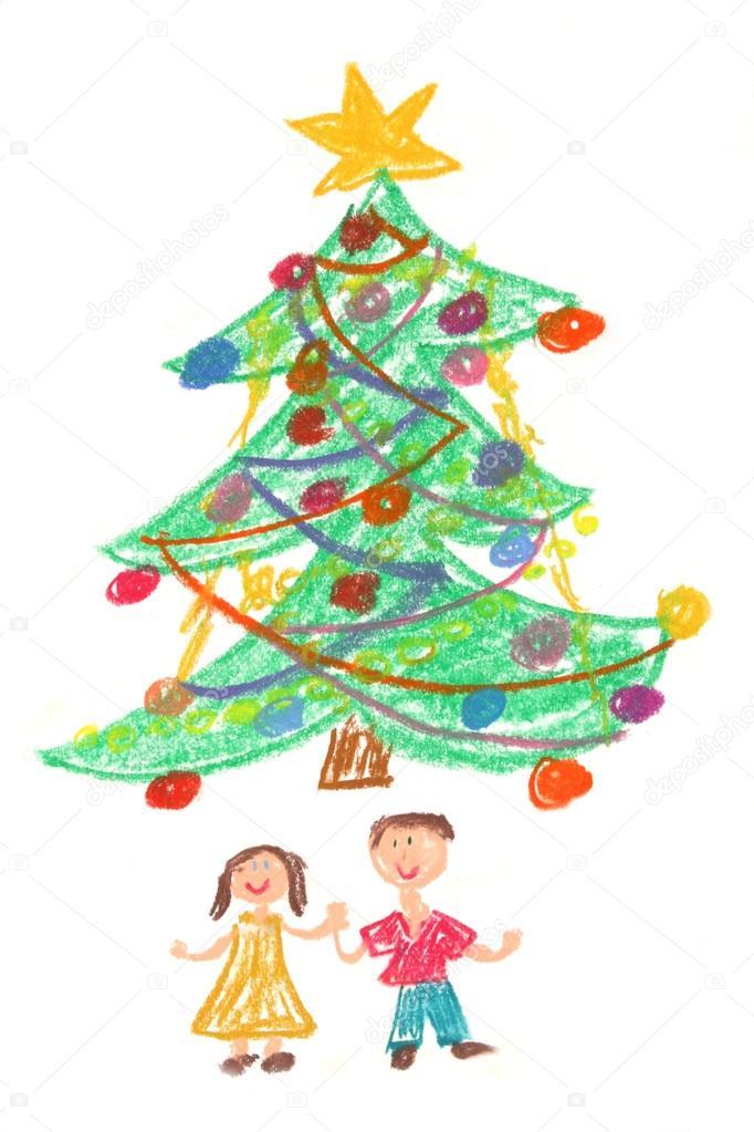 682x1023 Children And Christmas Tree